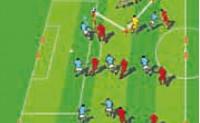 [战术演练]整体控球推进式进攻