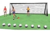 提高门将反应和前锋射门速度的小练习