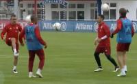 拜仁花式颠球传球训练方法